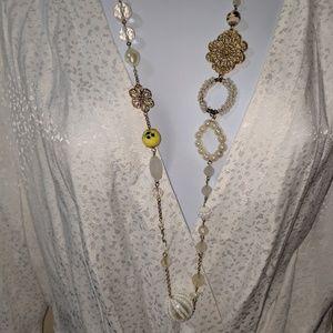 """Robert Rose long gold tone necklace- 34"""" length"""